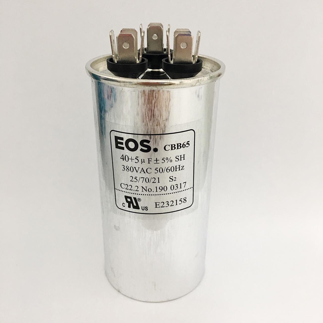 Capacitor 40+5 MFD 380V 50/60HZ