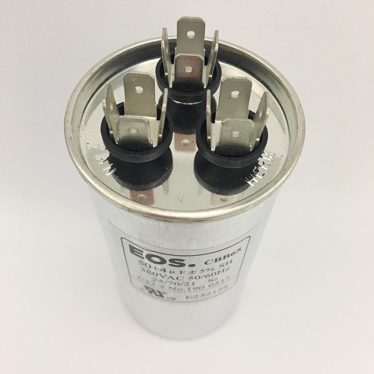 Capacitor EOS 50+4 MFD 380V 50/60Hz