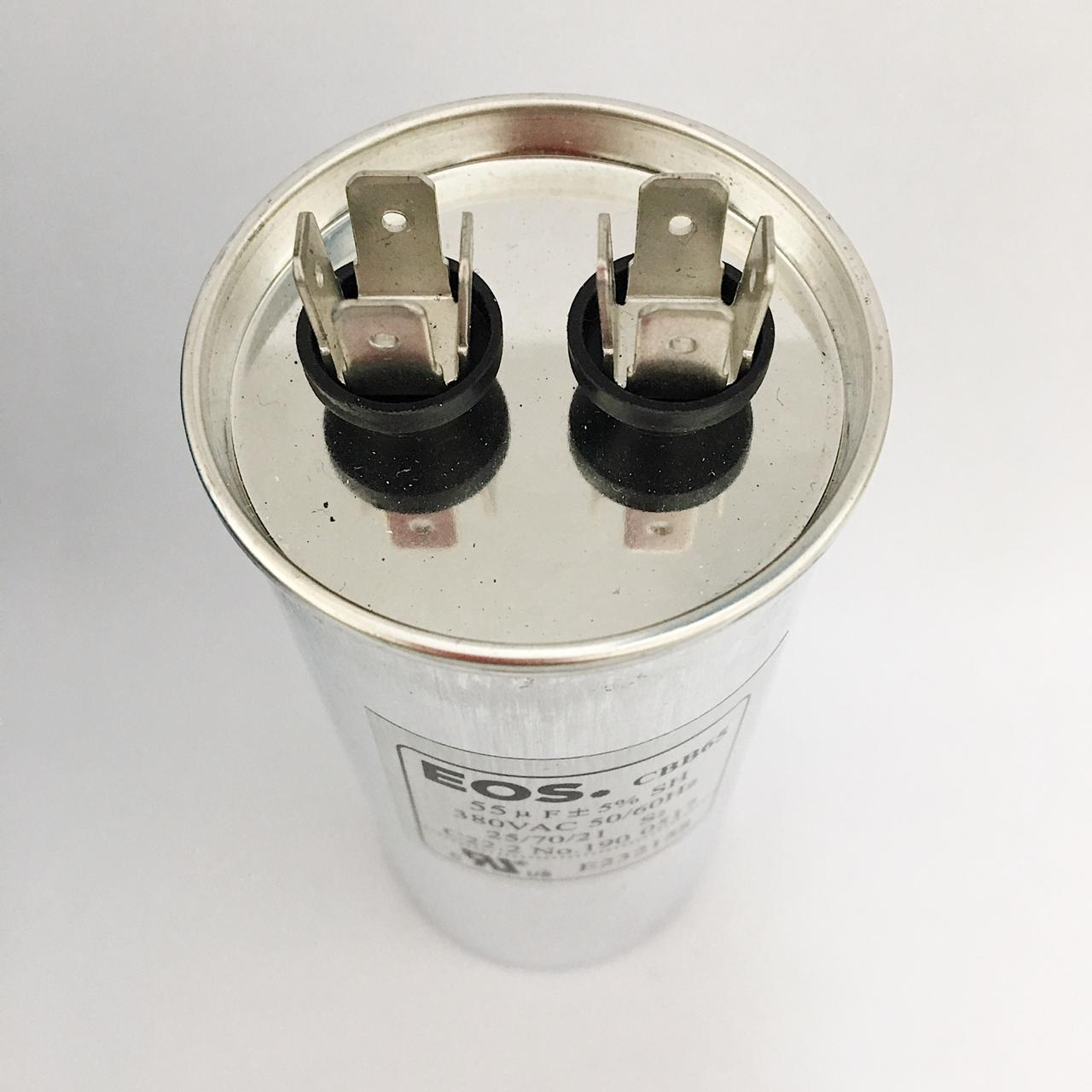 Capacitor 55 MFD 380V 50/60HZ