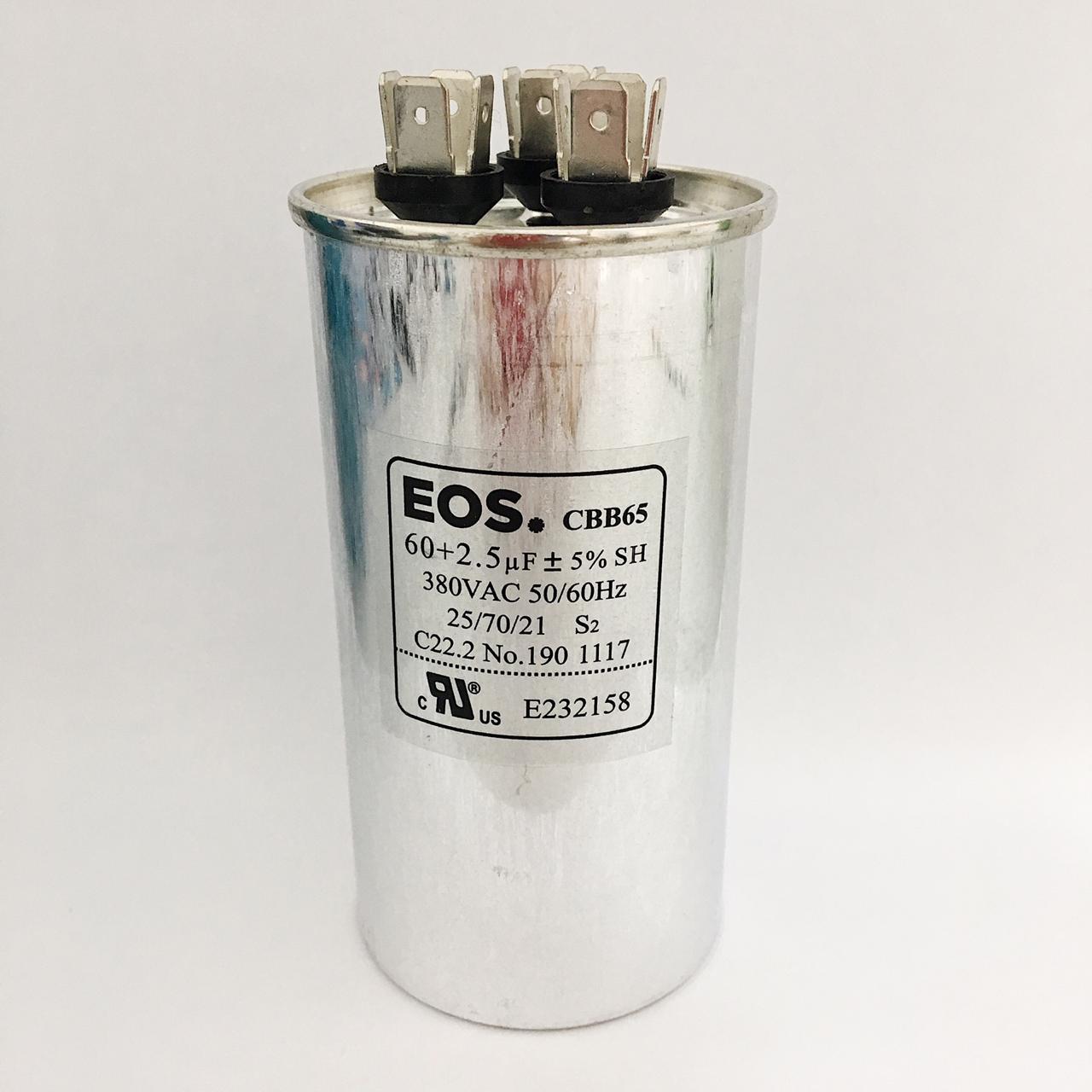 Capacitor 60+2.5 MFD 380V 50/60HZ
