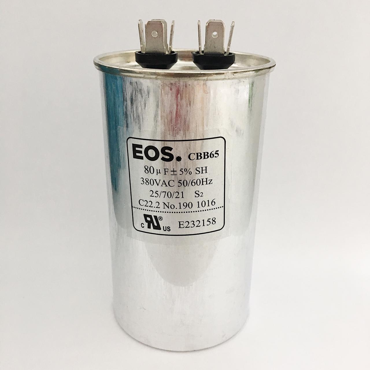 Capacitor 80 MFD 380V 50/60HZ