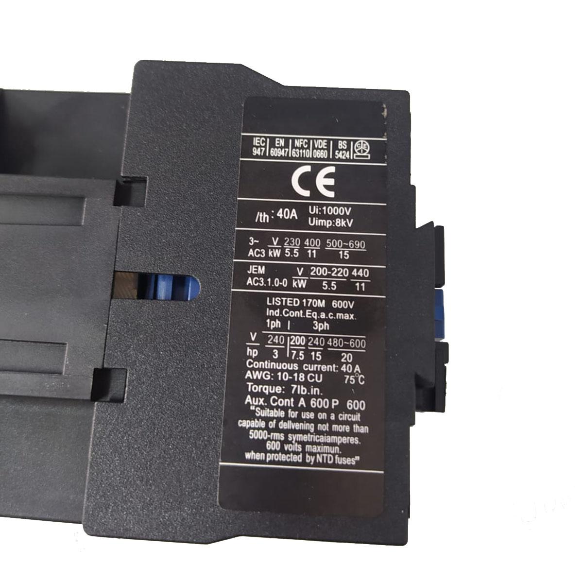 Contator Tripolar LC1 D2510M7