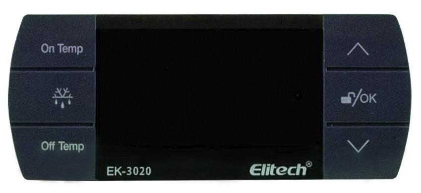 Controlador Digital de Temperatura Para Sistemas de Resfriados 220v Elitech EK-3020