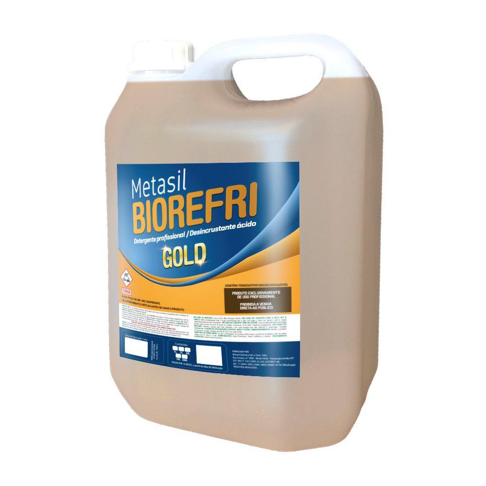 Detergente Desincrustante Ácido Biodegradável BioRefri Gold Metasil 5 Litros