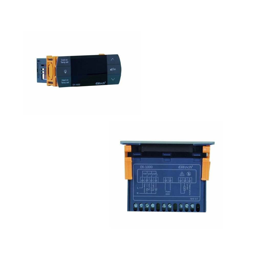 EK-1000 CONTROLADOR DIGITAL TEMPERATURA C/3 SAÍDAS (REFRIGERAÇÃO AQUECIMENTO E ILUMINAÇÃO) 2 SENSORES 2M-220V
