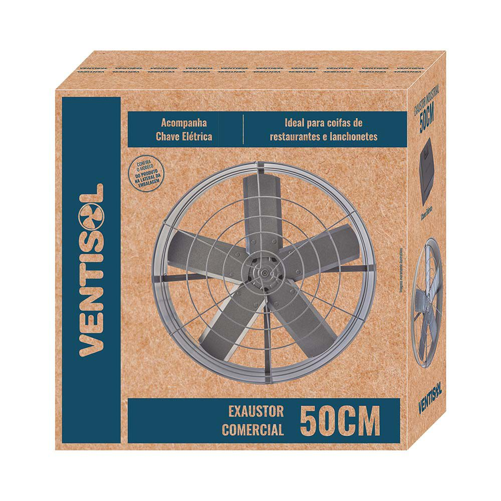Exaustor Axial Comercial 50cm 110V  Ventisol
