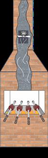 Exaustor Para Churrasqueira/Lareira sem Iluminação ITC