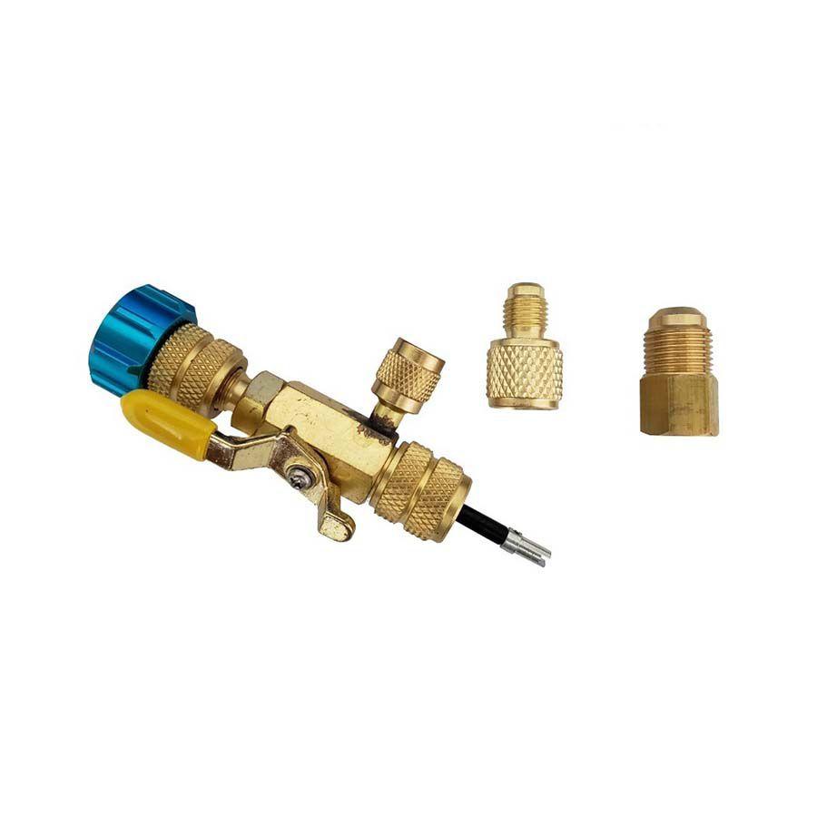 Extrator De Válvula De Serviço Suryha Com Conexão Lateral Para Vacuômetro