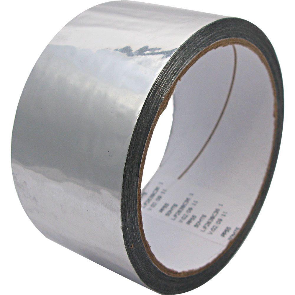Fita Adesiva Aluminizada Refrigeração Ar Condicionado 48mm x 45m