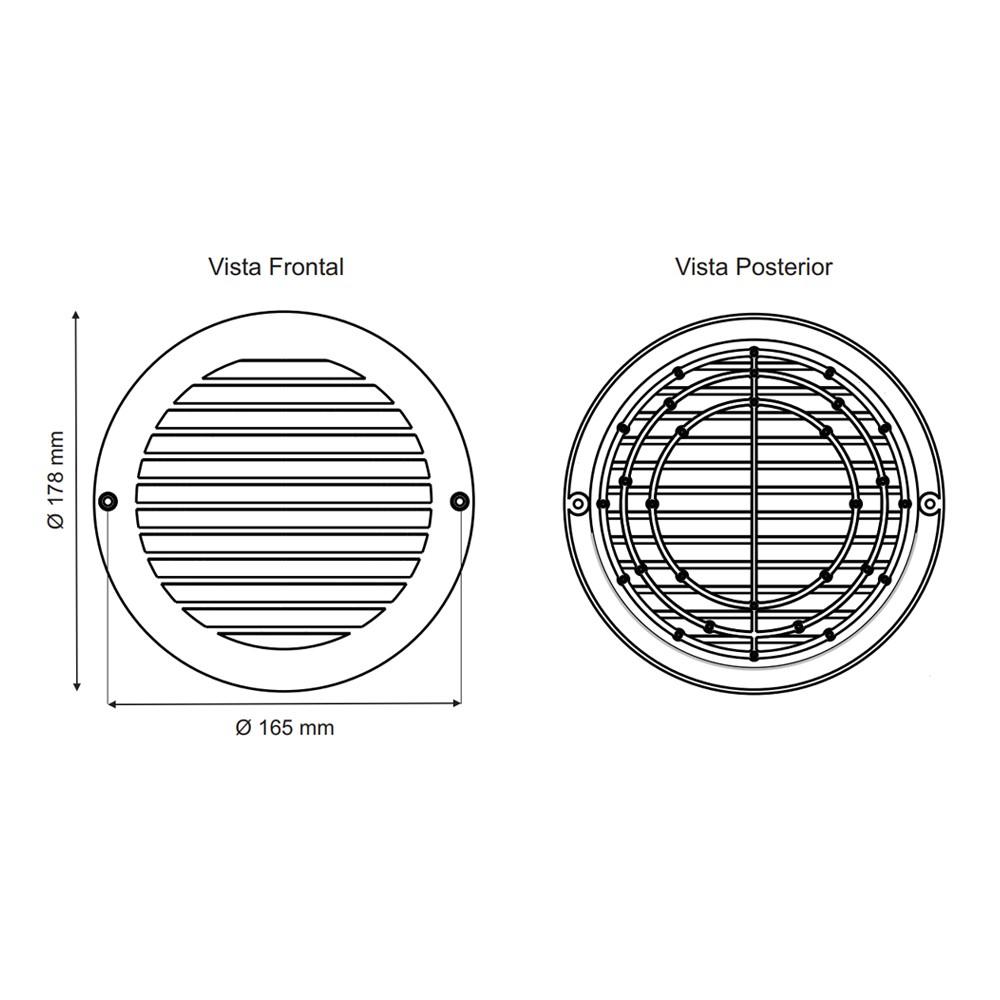 Grade de Ventilação de Superfície Ventokit 125mm