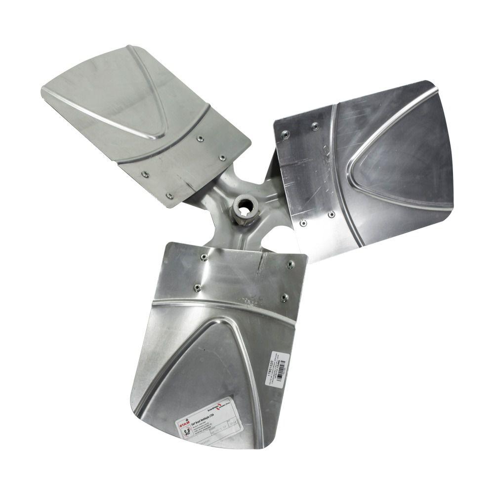 Hélice Condensadora Ar Condicionado Splitão Springer Carrier 30 TR 3 Pás Alumínio 17601020