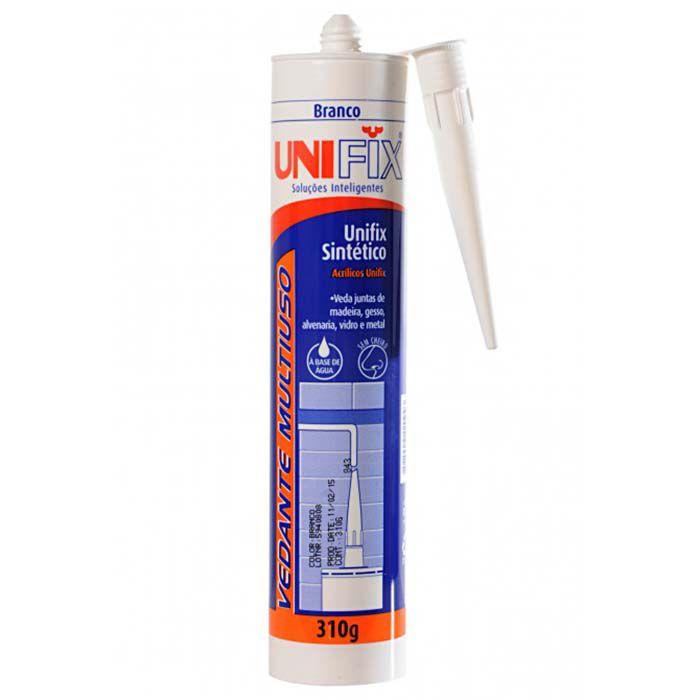 Kit 12 Silicone Branco Vedante Acrílico Unifix Tapa Trincas 455g