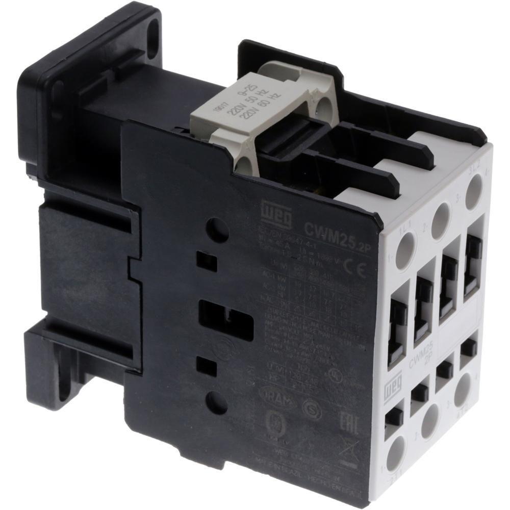 Kit com 4 Contator Bipolar 220v Weg CWM25-00-20D23