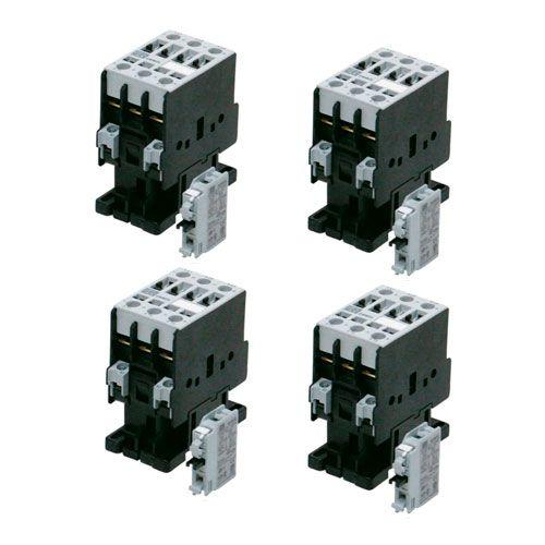 Kit com 4 Contator Tripolar Cwm 25a 220v 60hz 1na Cwm25-10-30v26 - Weg