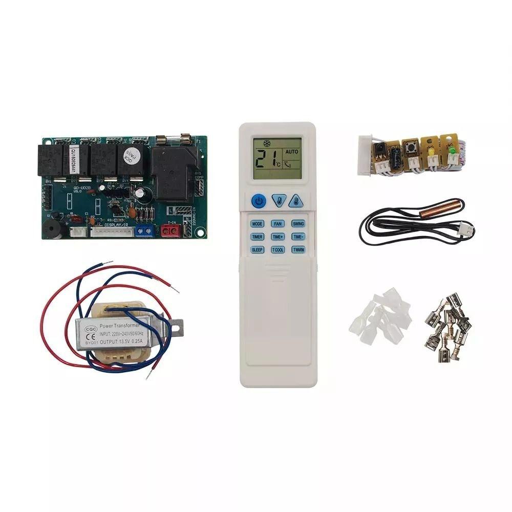 Kit Controle Remoto Placa Eletrônica Universal Para Hi Wall Quente e Frio