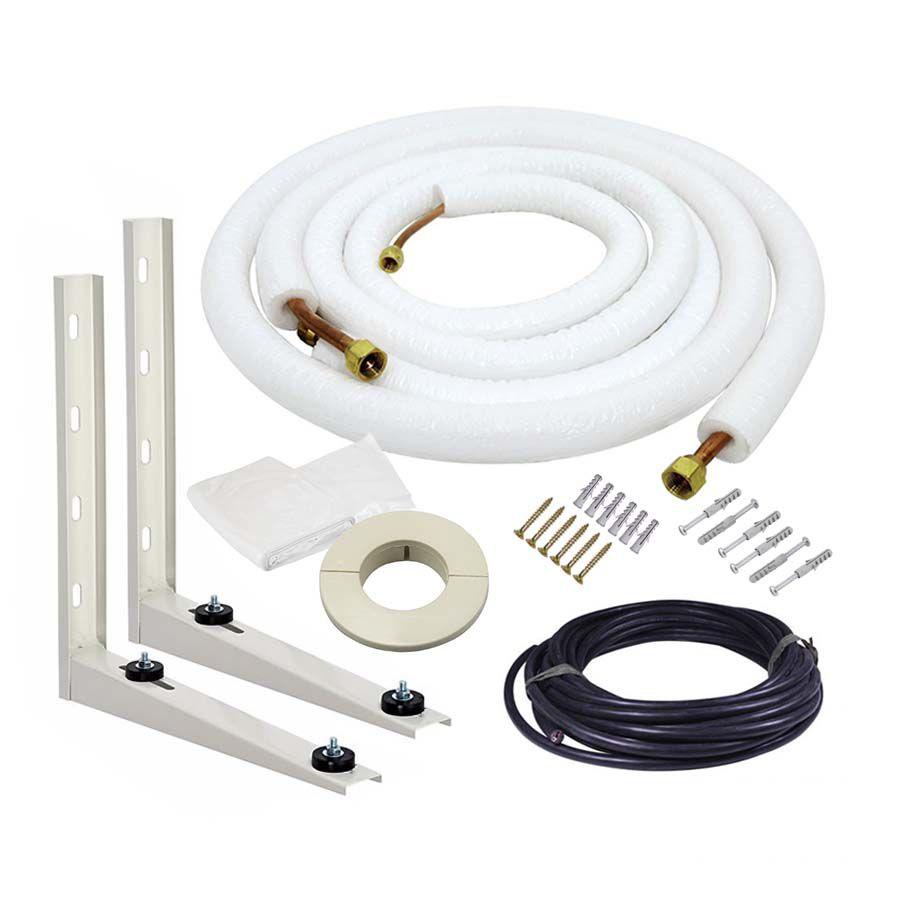 Kit de Instalação Para Ar Condicionado Split 7.000 a 9.000 Btus 5 metros Flangeado