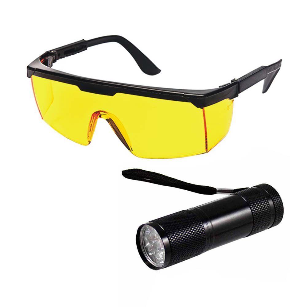 Lanterna Uv Automotiva Detector Vazamento + Óculos