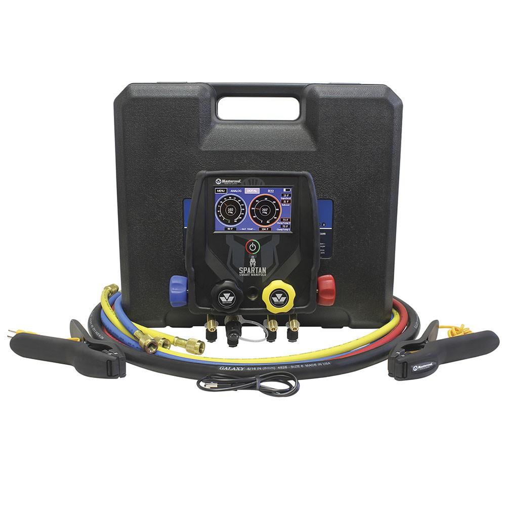Manifold Digital 4 Vias Spartan Vacuômetro Bluetooth + 4 Mangueiras Mastercool