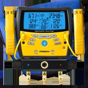 Manifold Digital com 3 Portas e Vacuômetro SMAN360 Fieldpiece