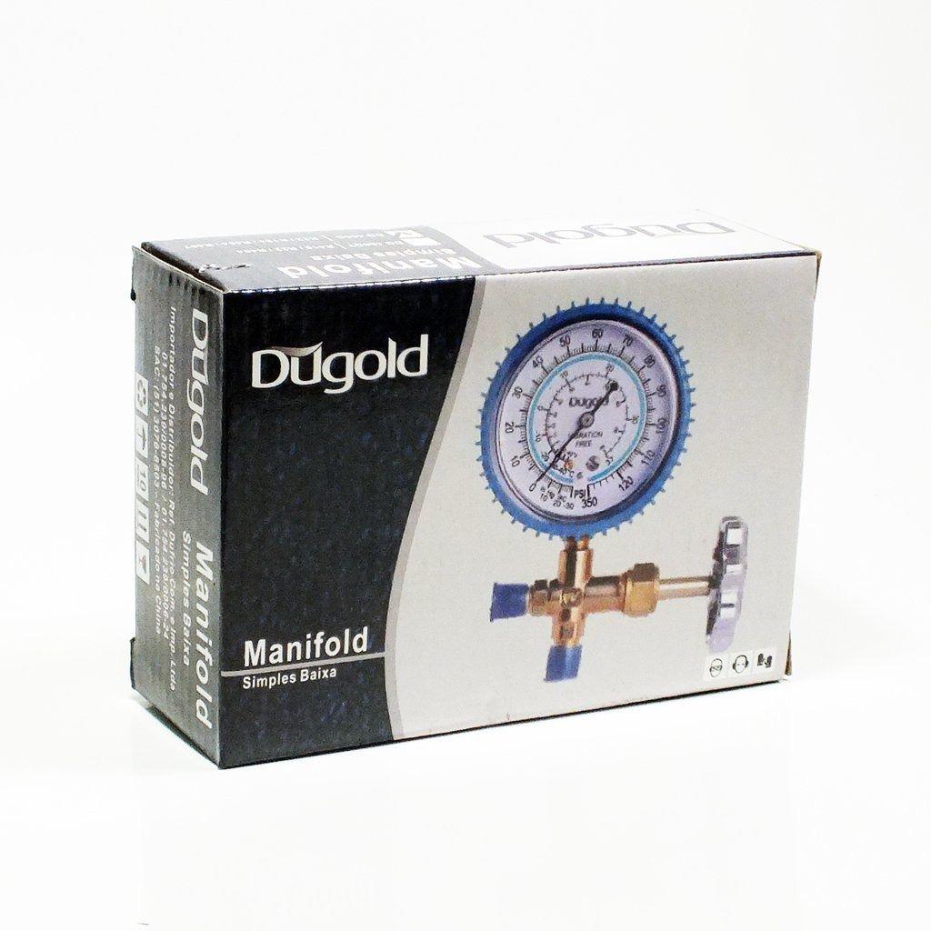Manifold Simples Baixa 1 Via R410 R22 R404 Dugold
