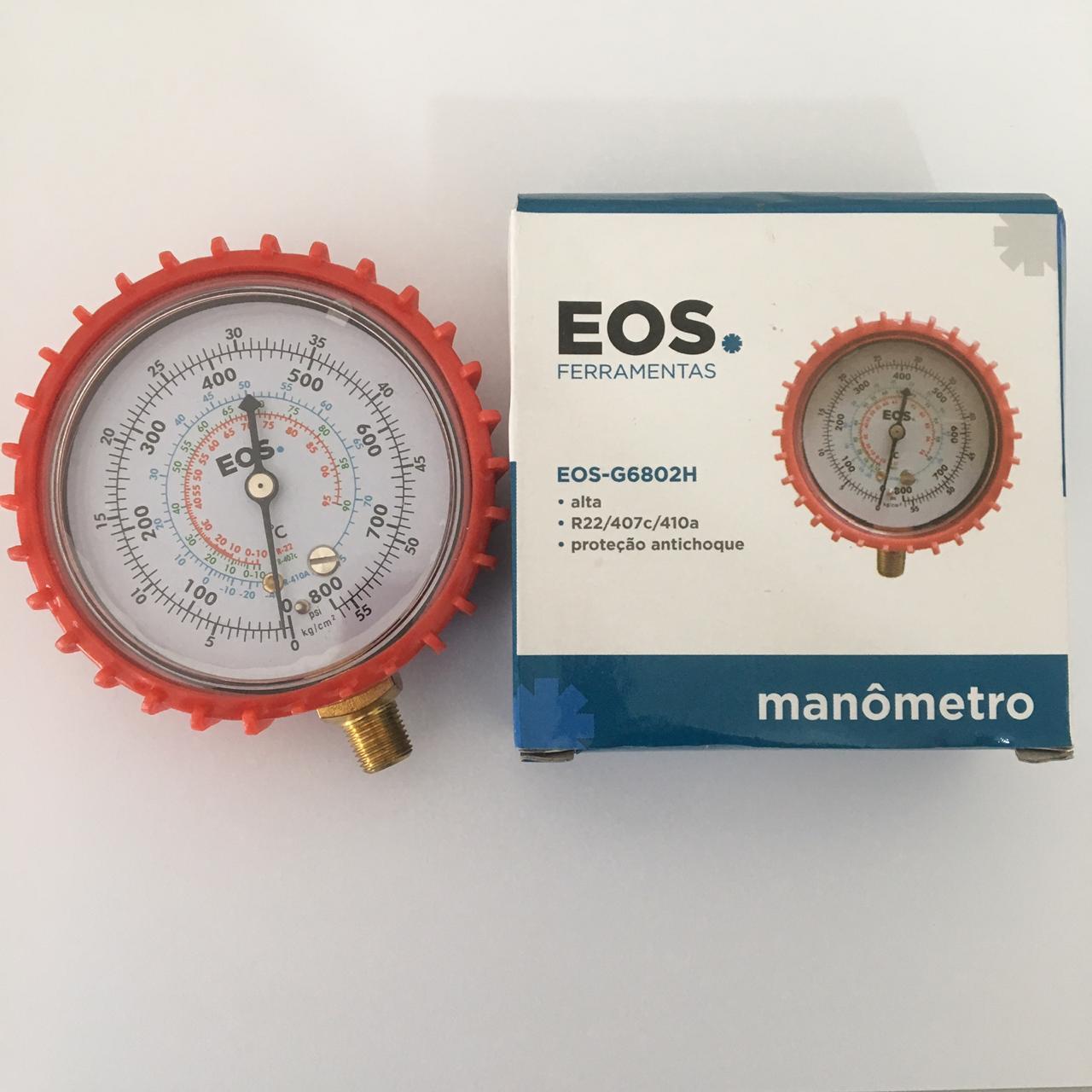 Manômetro Alta R22 407c 410a EOS