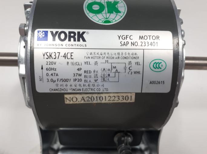 MOTOR CHILLER YORK YSK37-4CE - 024G00067 175