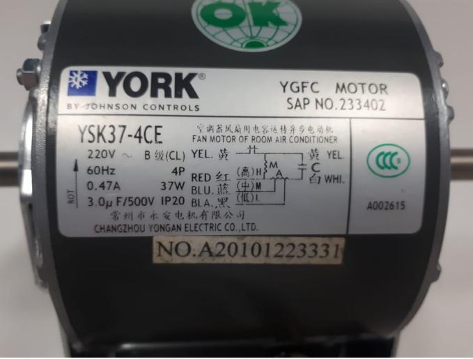 MOTOR CHILLER YORK YSK37-4CE - 024G00067 176