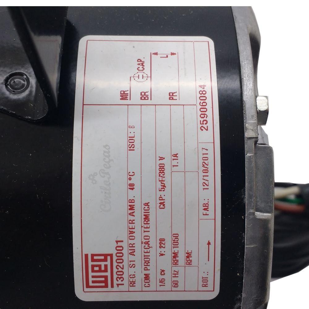 Motor Elétrico Ventilador Condensadora Springer Carrier 30.000 a 36.000 Btus 25906084 220v