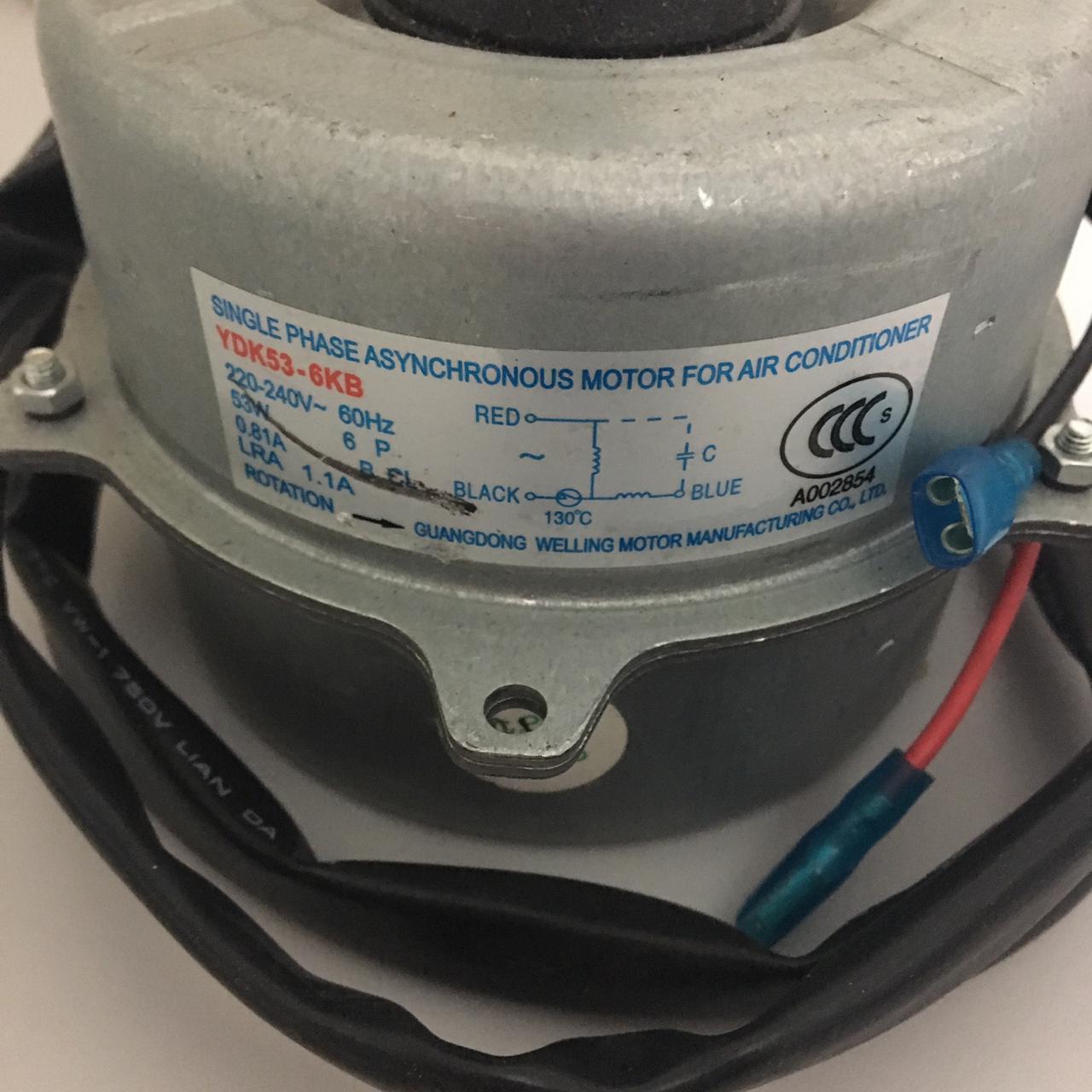 Motor Ventilador RCA454/604B Hitachi MD10118123801