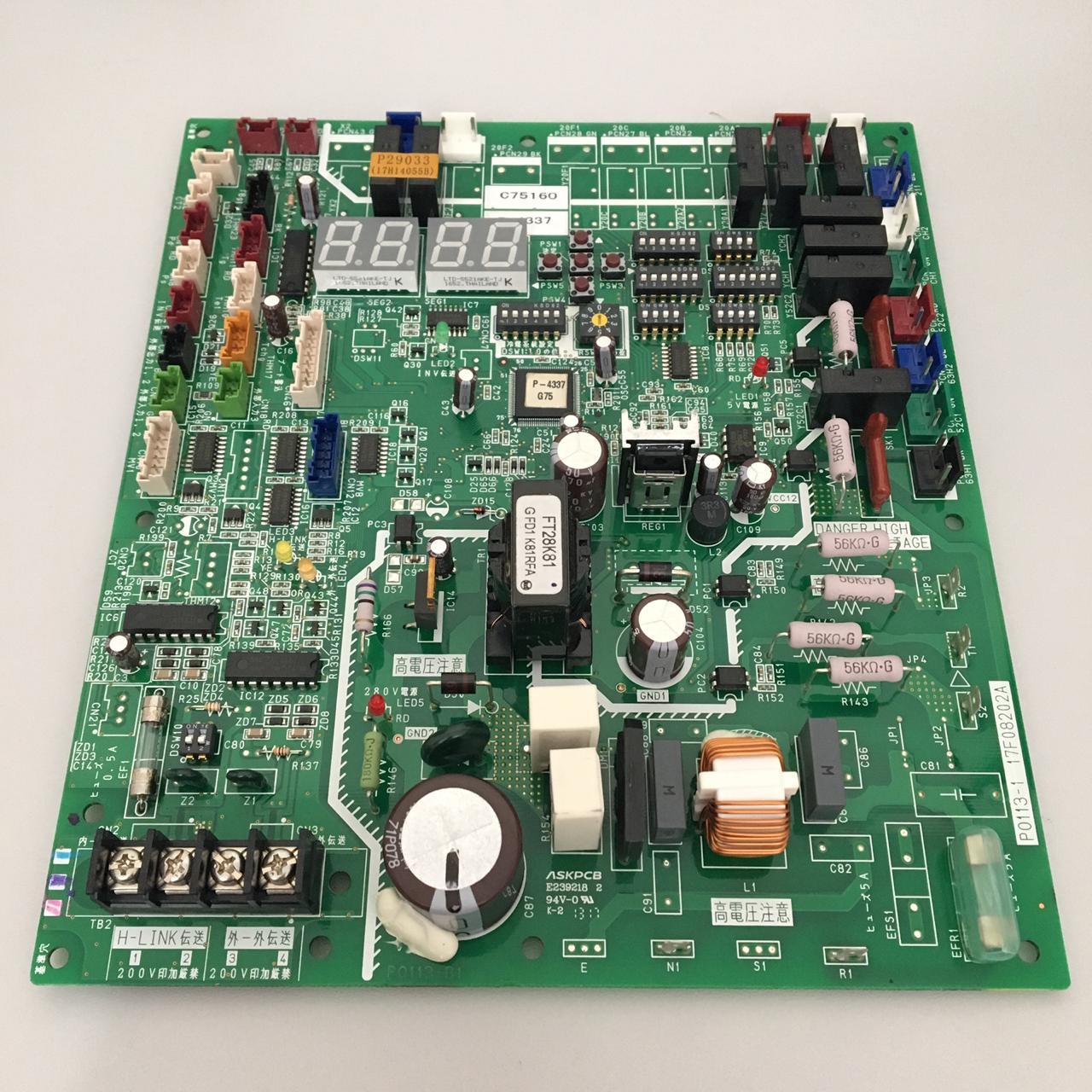 Placa Eletrônica de Circuito Hitachi PCB1 380V Para Chiller 17B43062C