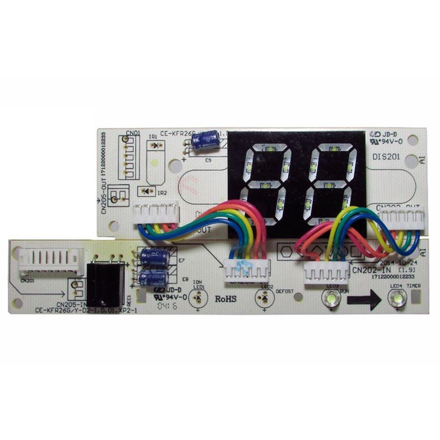 Placa Eletrônica Display Evaporadora Midea Carrier 7.000 a 24.000 Btus 201332391359