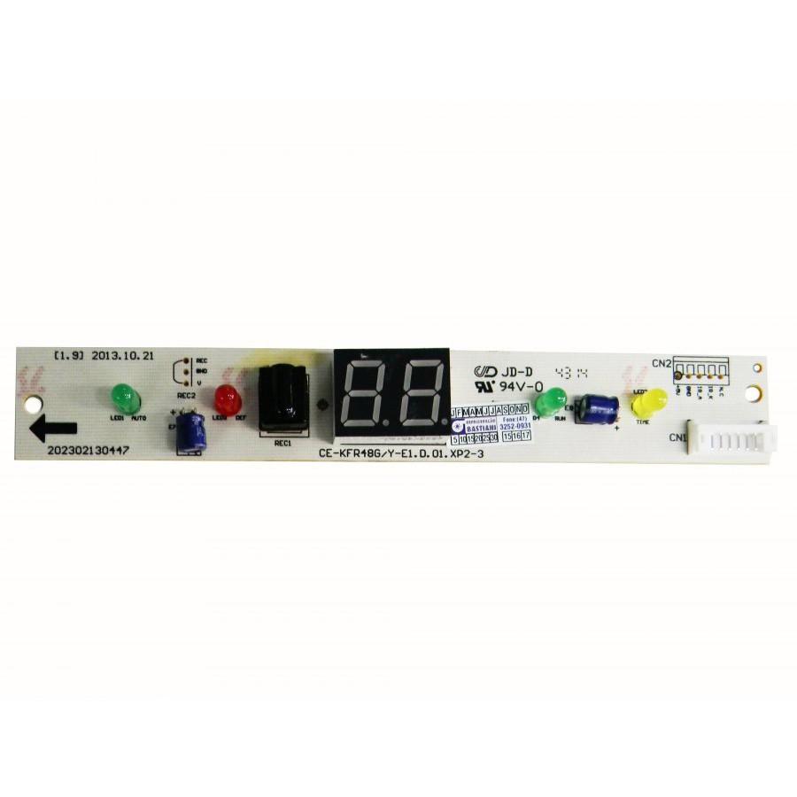 Placa Eletrônica do Display Evaporadora Midea Carrier Hi Wall 18.000 e 22.000 Btus 201332790083
