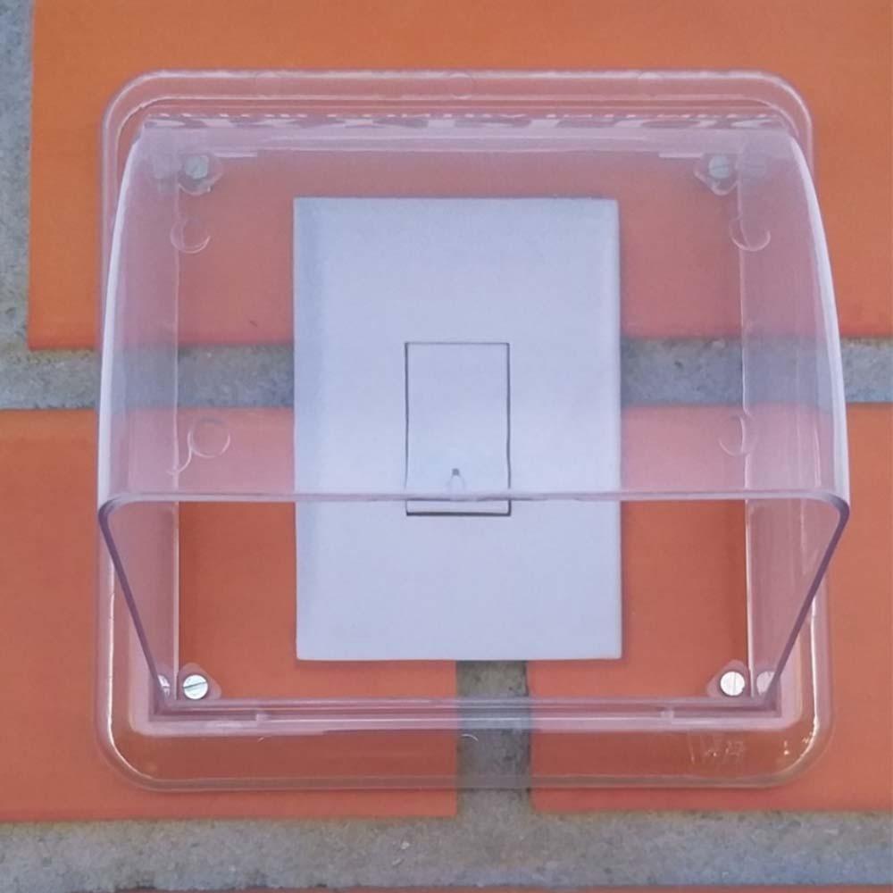 Protetor de Tomadas e Interruptores Transparente Dryplug Duplo