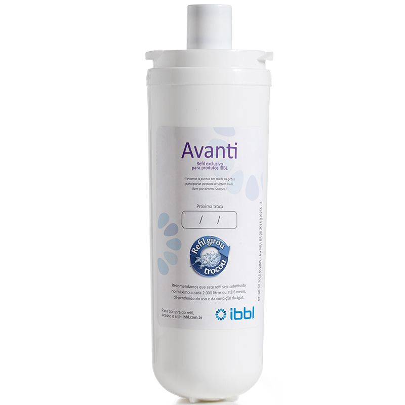 Refil Avanti e Filtro MIO Purificador de Água IBBL