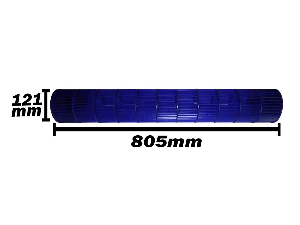 Turbina Evaporadora Springer Midea 24.000 e 30.000 Btus 201100290010 121x805mm