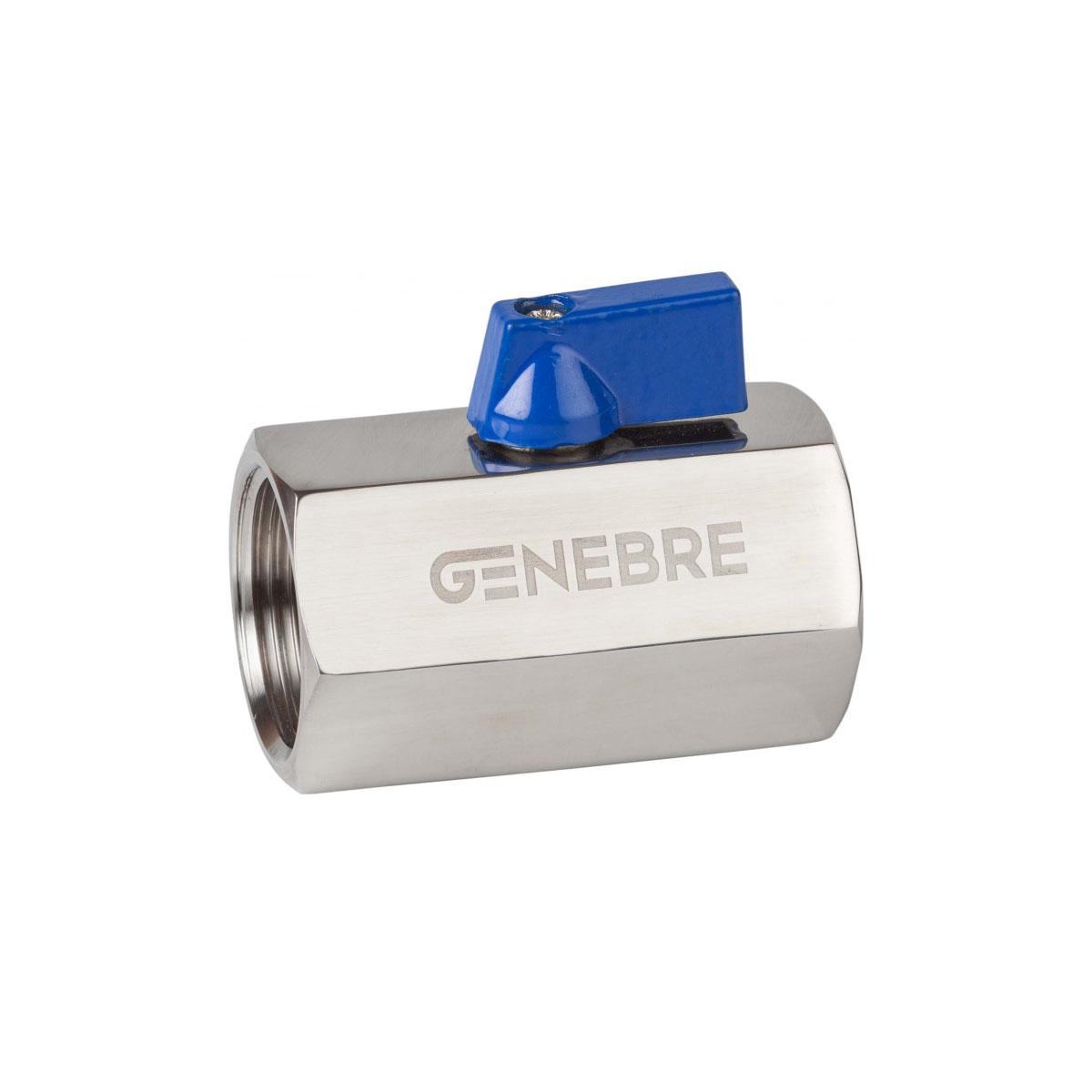 Válvula de esfera monobloco mini inox polido 316 F-F PN 63 BSP 1/4