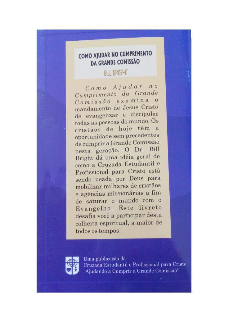 CT - Como ajudar a cumprir a Grande Comissão