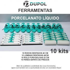 Kit Porcelanato Líquido - Revenda (10 Kits)