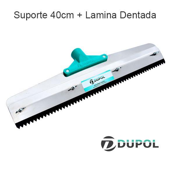 Rodo Dentado Inox 40cm + Lâmina Dentada 40cm