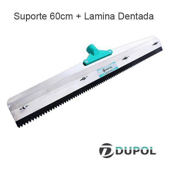 Rodo Dentado 60cm Inox + Lâmina Dentada 60cm