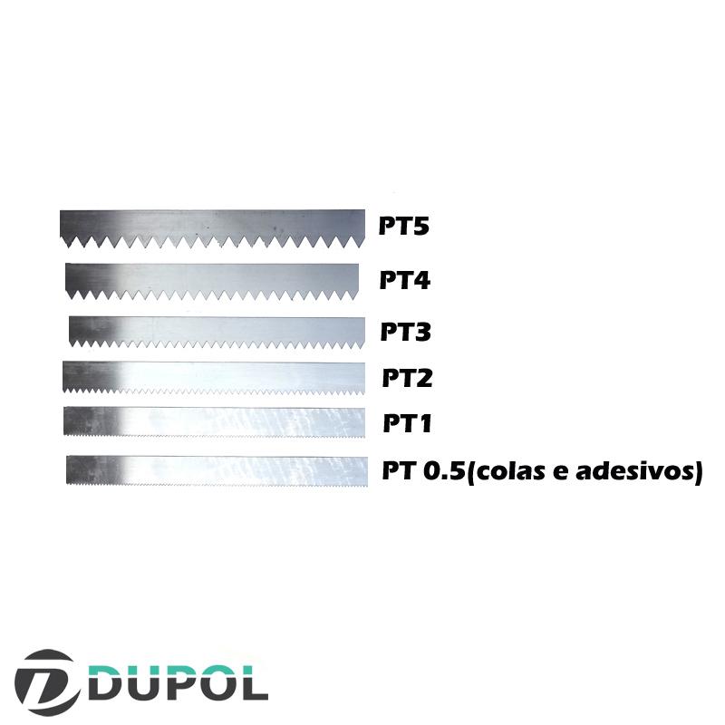 D) Espátula de Lâminas Removíveis + 1 Lâmina Dentada