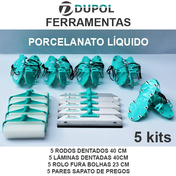 Kit Porcelanato Líquido - Revenda (5 Kits)