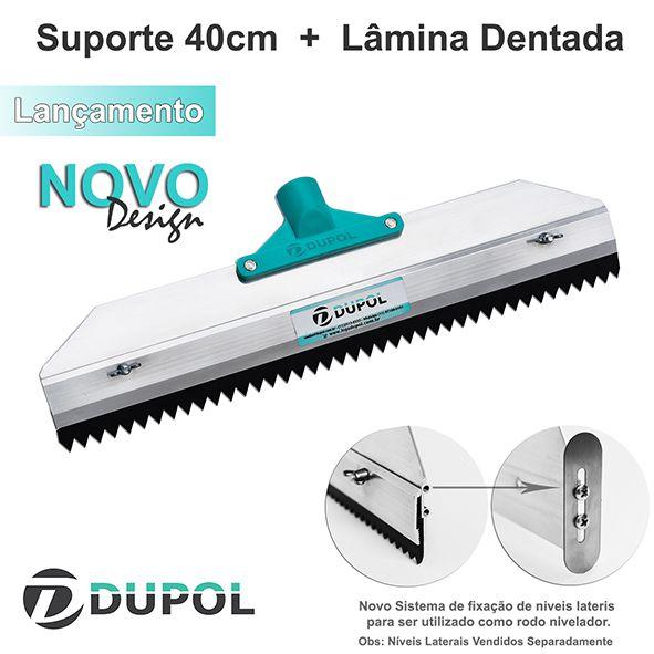 Rodo Dentado 40cm Alumínio Reforçado + Lâmina Dentada 40 cm