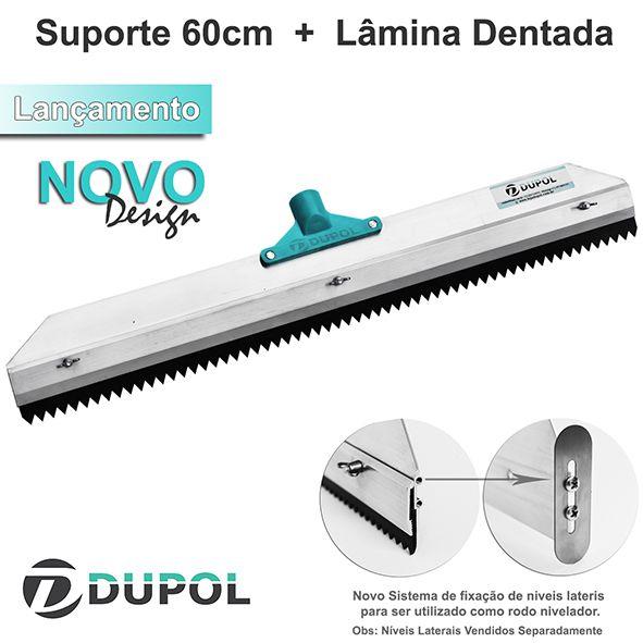 Rodo Dentado 60cm Alumínio Reforçado + Lâmina Dentada 60cm