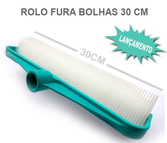Rolo Fura Bolhas 30 cm (Novo suporte Plástico)
