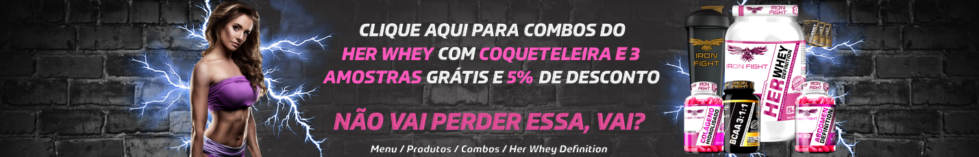 BANNER ROTATIVO COMBOS DO HER WHEY PROTEIN