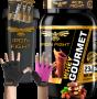 COMBO 1 WHEY GOURMET + 1 LUVA MEIO DEDO + 1 COQ GRÁTIS + 3 AMOSTRAS GRÁTIS