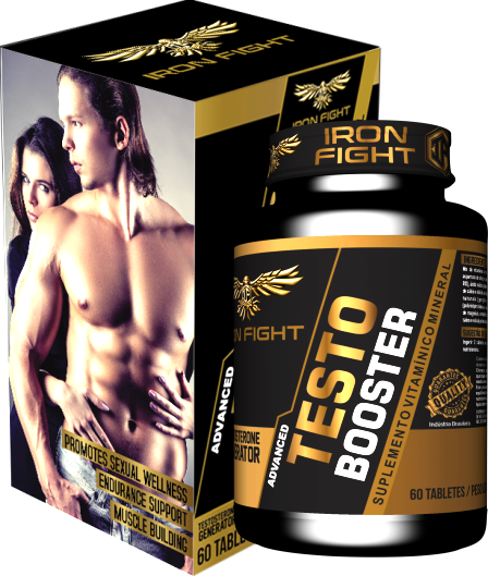Advanced Testo Booster Pote com 60 Tabletes Iron Fight