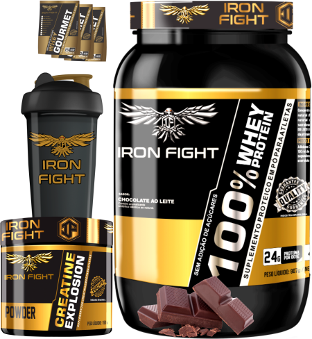 COMBO 1 100% WHEY PROTEIN + 1 CREATINE + 1 COQ  GRÁTIS + 3 AMOSTRAS GRÁTIS