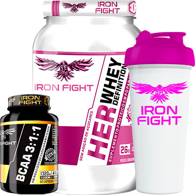COMBO 1 HER WHEY DEFINITION + 1 BCAA 3:1:1 + 1 COQ GRÁTIS